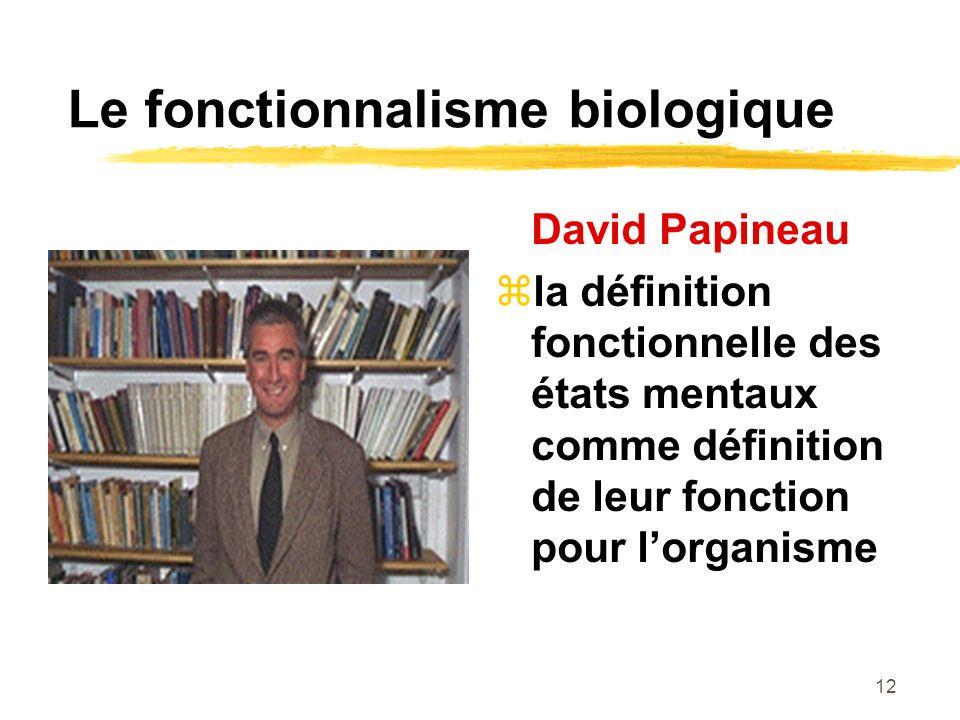 Le fonctionnalisme biologique