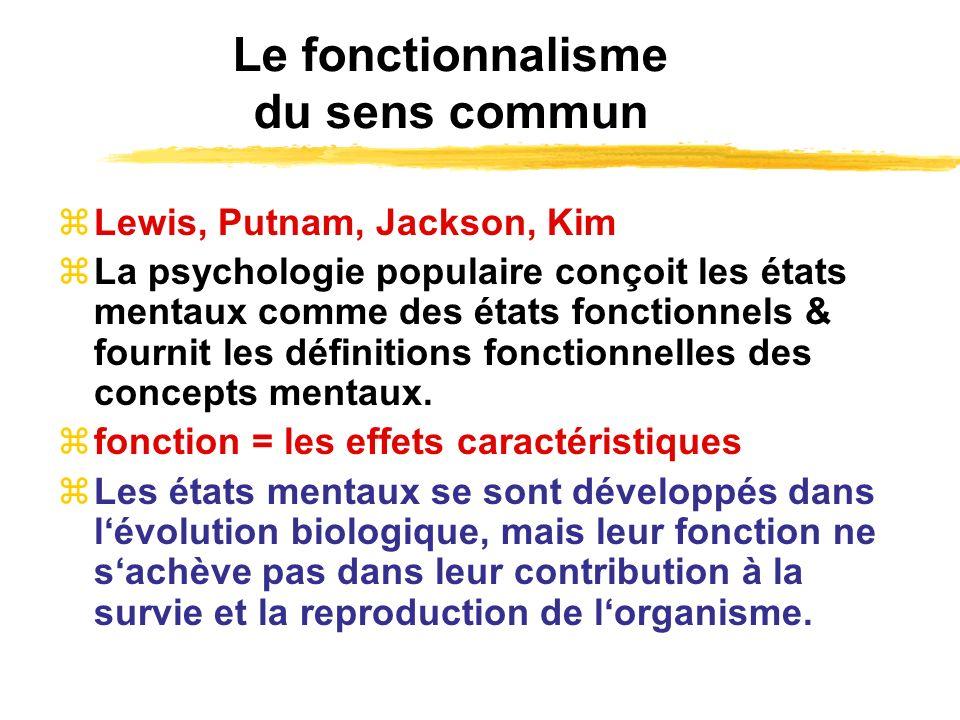 Le fonctionnalisme du sens commun