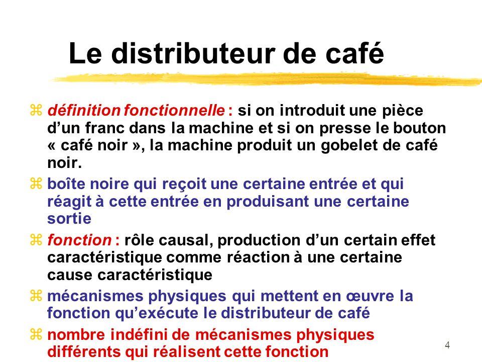 Le distributeur de café