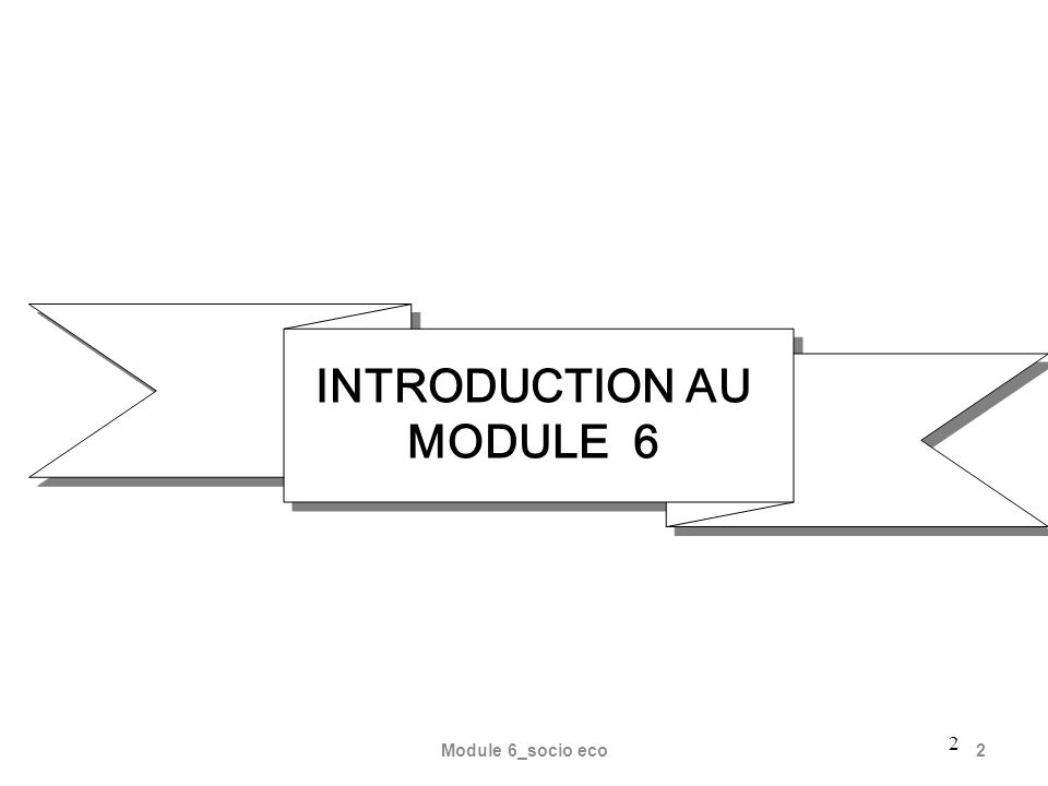 INTRODUCTION AU MODULE 6
