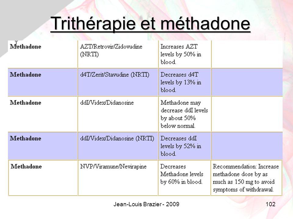 Trithérapie et méthadone