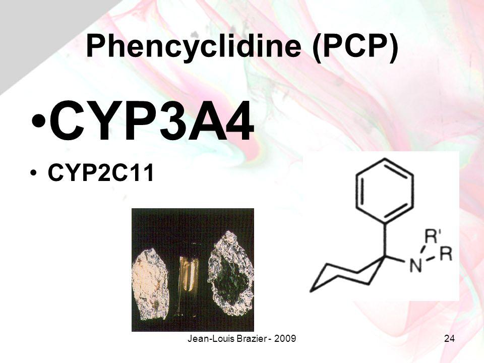 Phencyclidine (PCP) CYP3A4 CYP2C11 Jean-Louis Brazier - 2009