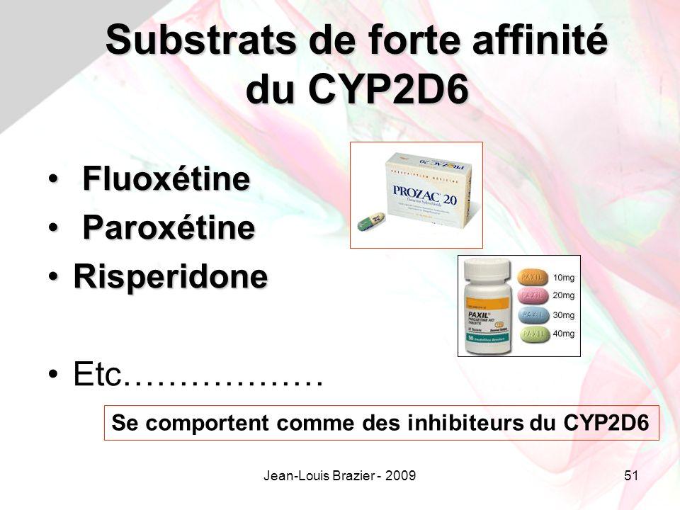 Substrats de forte affinité du CYP2D6