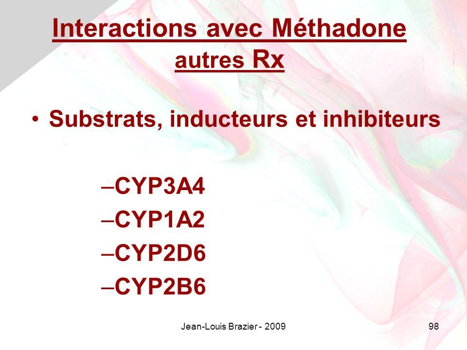 Interactions avec Méthadone autres Rx