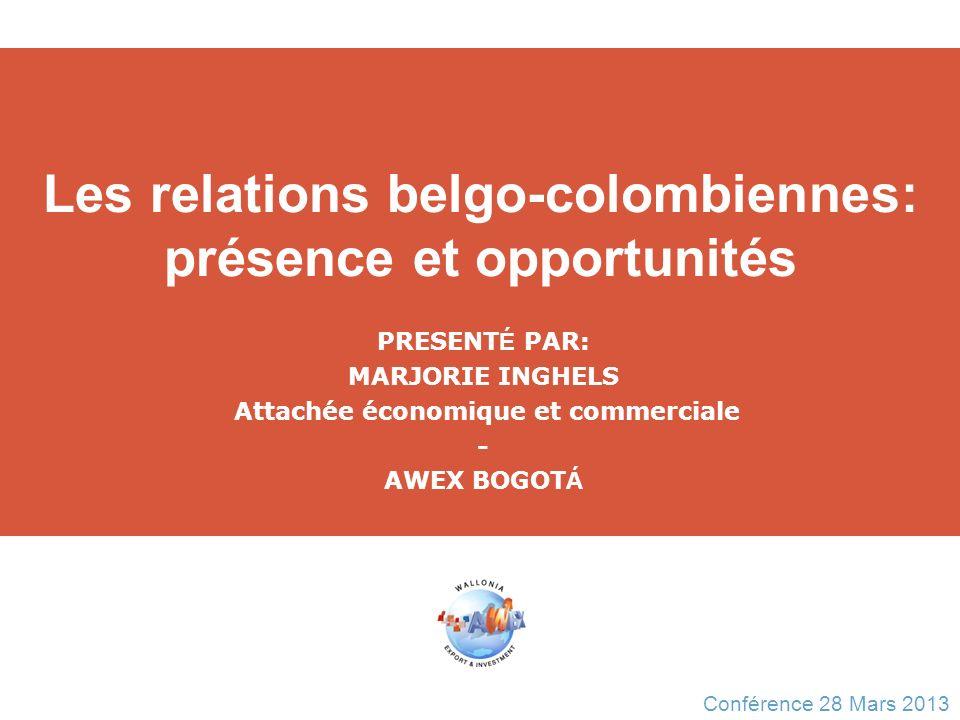 Les relations belgo-colombiennes: présence et opportunités