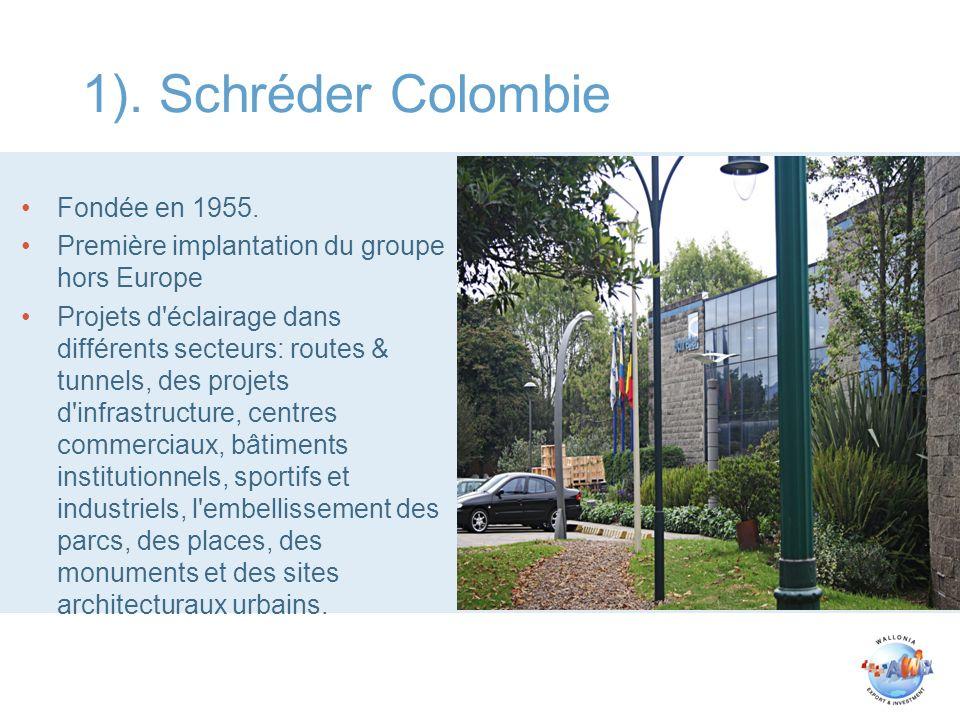 1). Schréder Colombie Fondée en 1955.