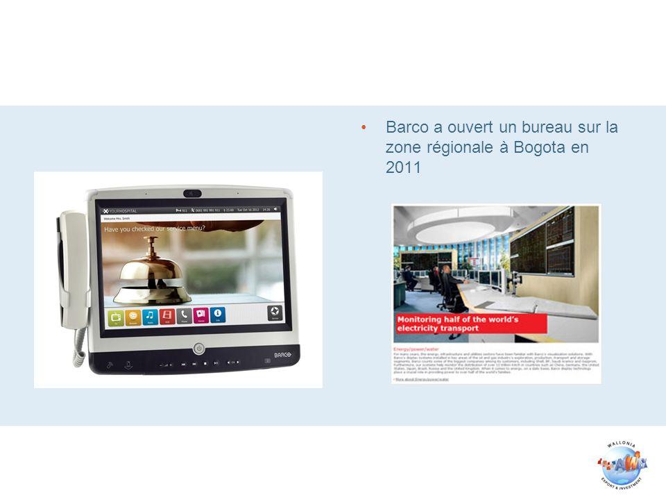 Barco a ouvert un bureau sur la zone régionale à Bogota en 2011