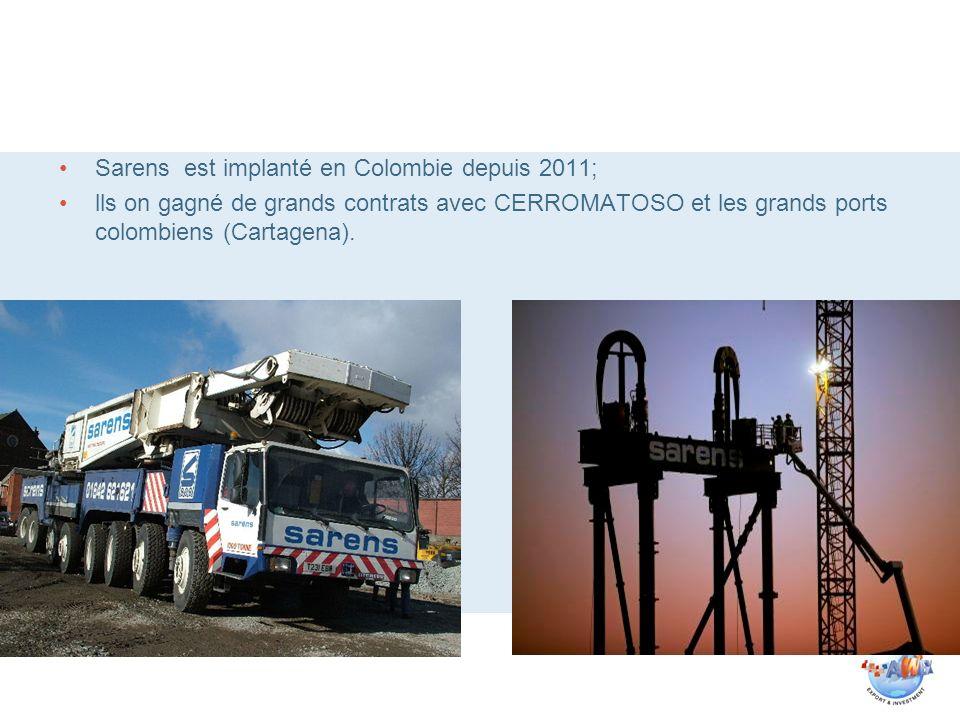 Sarens est implanté en Colombie depuis 2011;