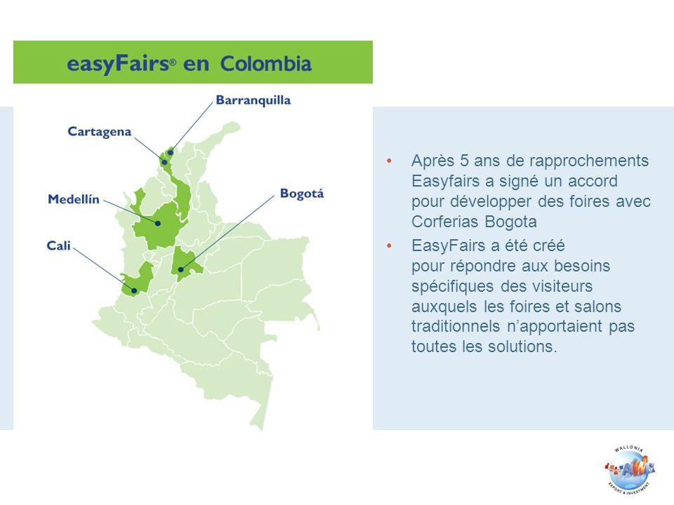 Après 5 ans de rapprochements Easyfairs a signé un accord pour développer des foires avec Corferias Bogota