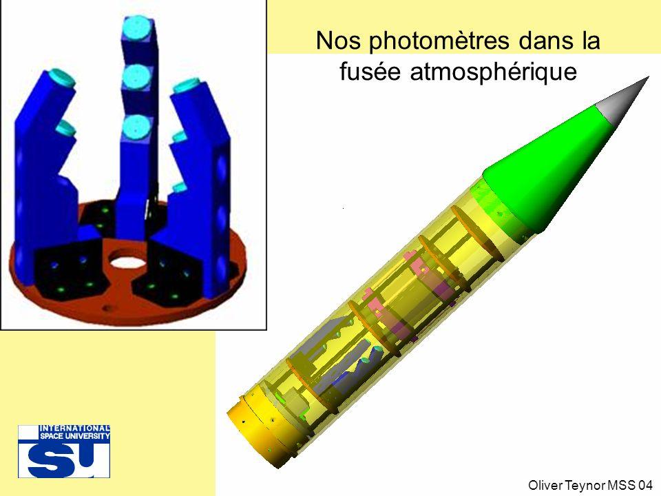 Nos photomètres dans la fusée atmosphérique