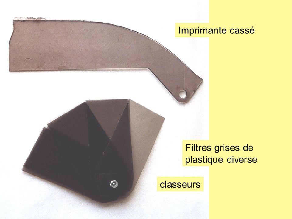 Imprimante cassé Filtres grises de plastique diverse classeurs