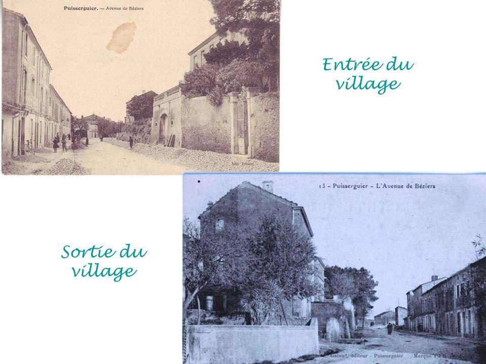 Entrée du village Sortie du village