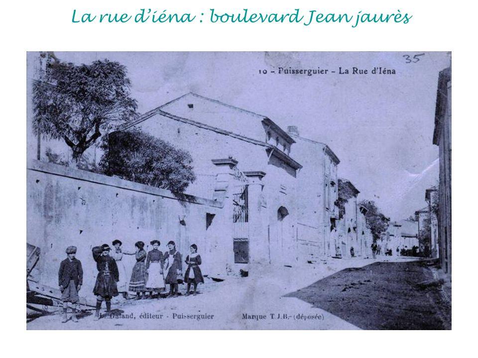 La rue d'iéna : boulevard Jean jaurès