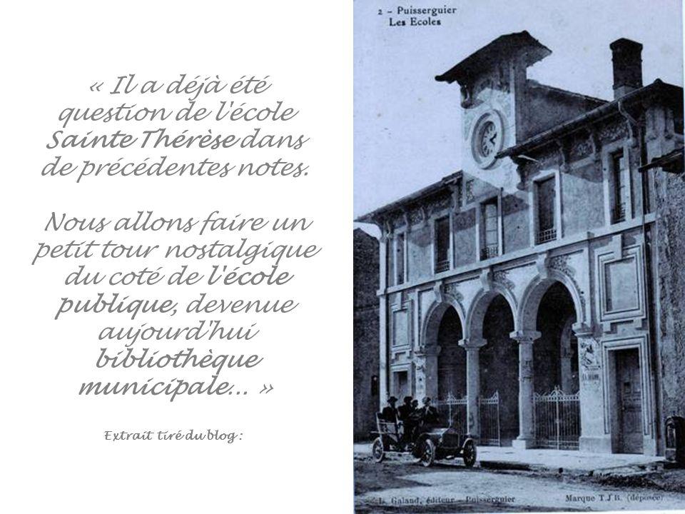 « Il a déjà été question de l école Sainte Thérèse dans de précédentes notes.