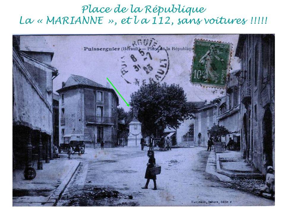 Place de la République La « MARIANNE », et l a 112, sans voitures !!!!!