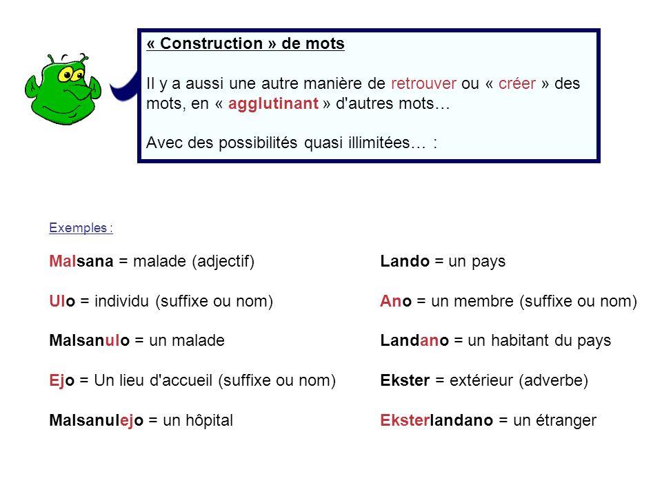 « Construction » de mots