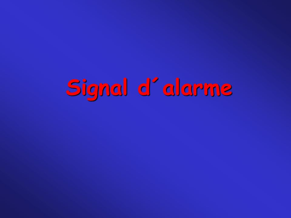 Signal d´alarme