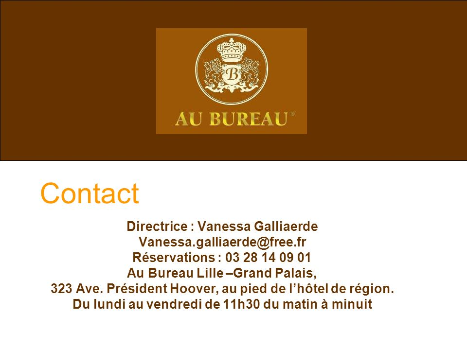 Contact Directrice : Vanessa Galliaerde Vanessa.galliaerde@free.fr