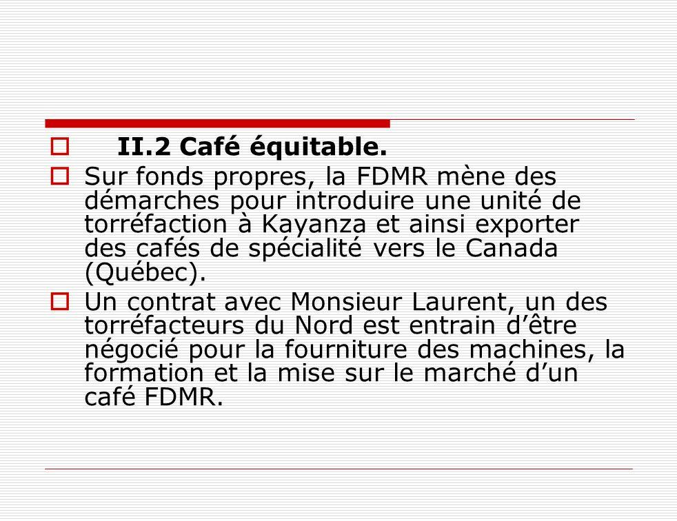II.2 Café équitable.