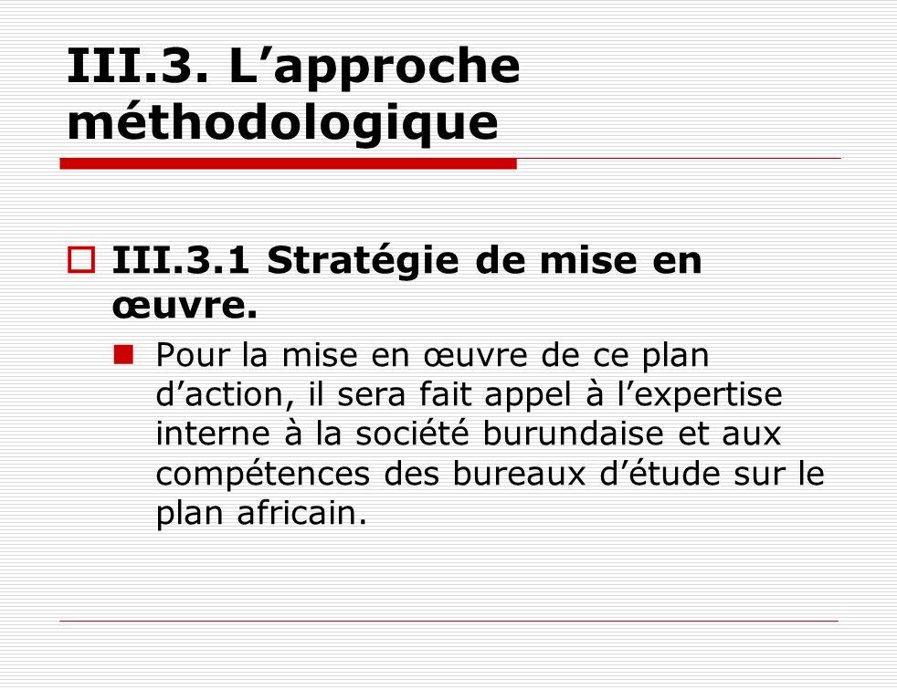 III.3. L'approche méthodologique