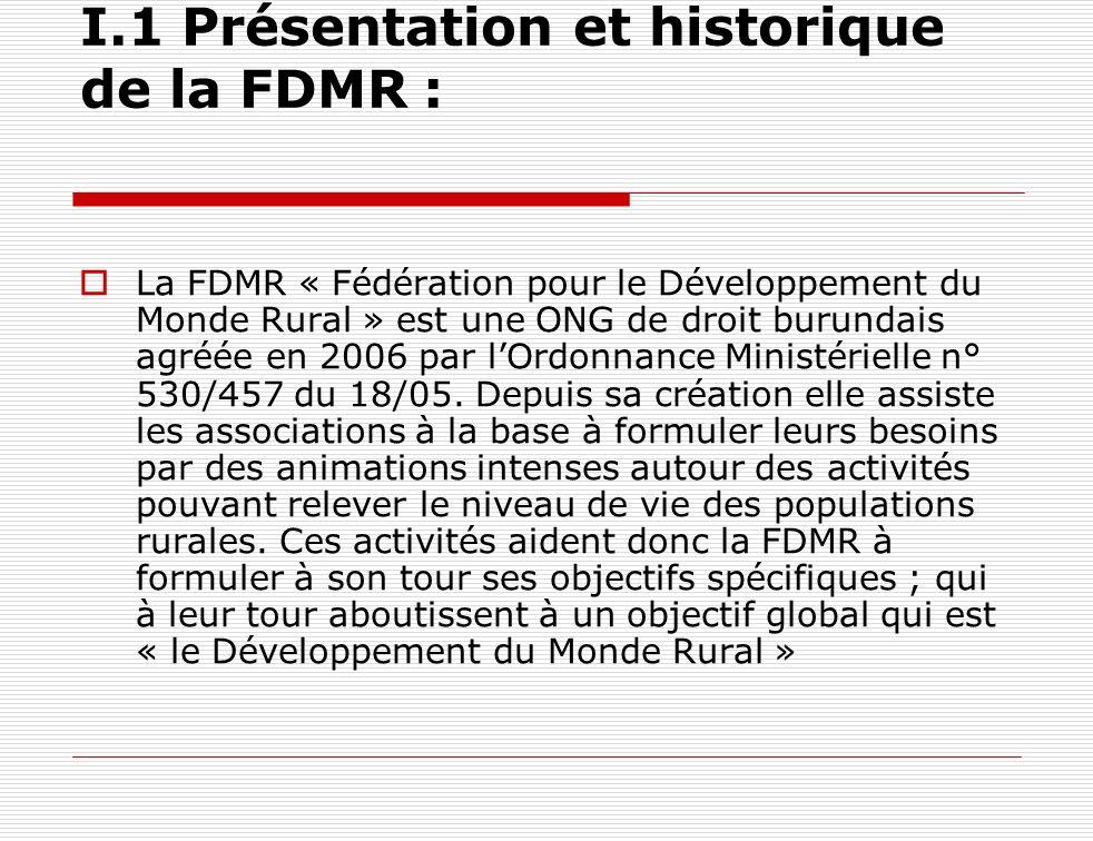 I.1 Présentation et historique de la FDMR :