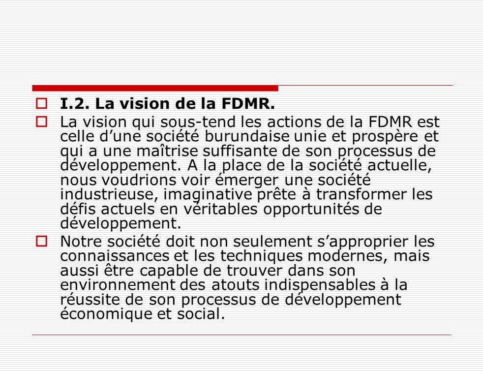 I.2. La vision de la FDMR.