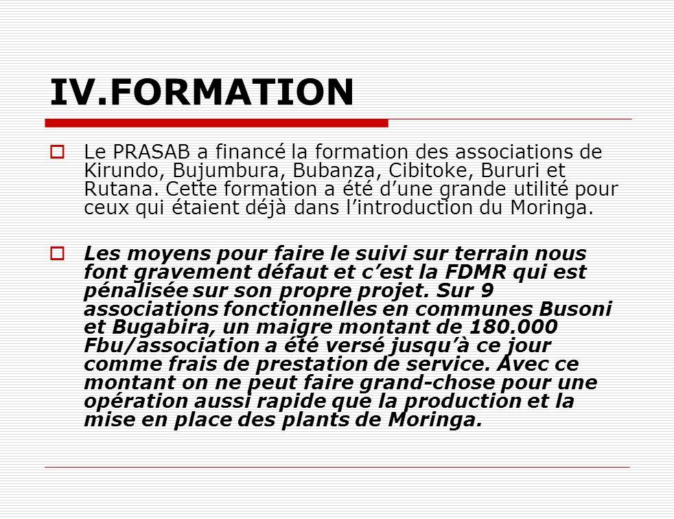 IV.FORMATION