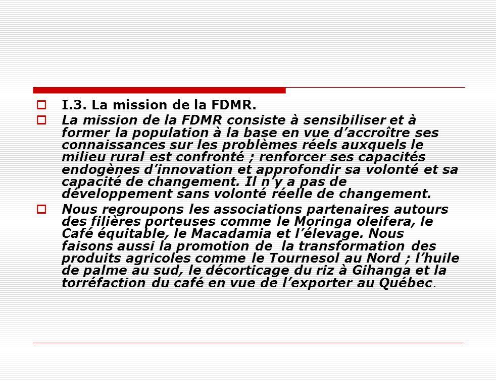 I.3. La mission de la FDMR.