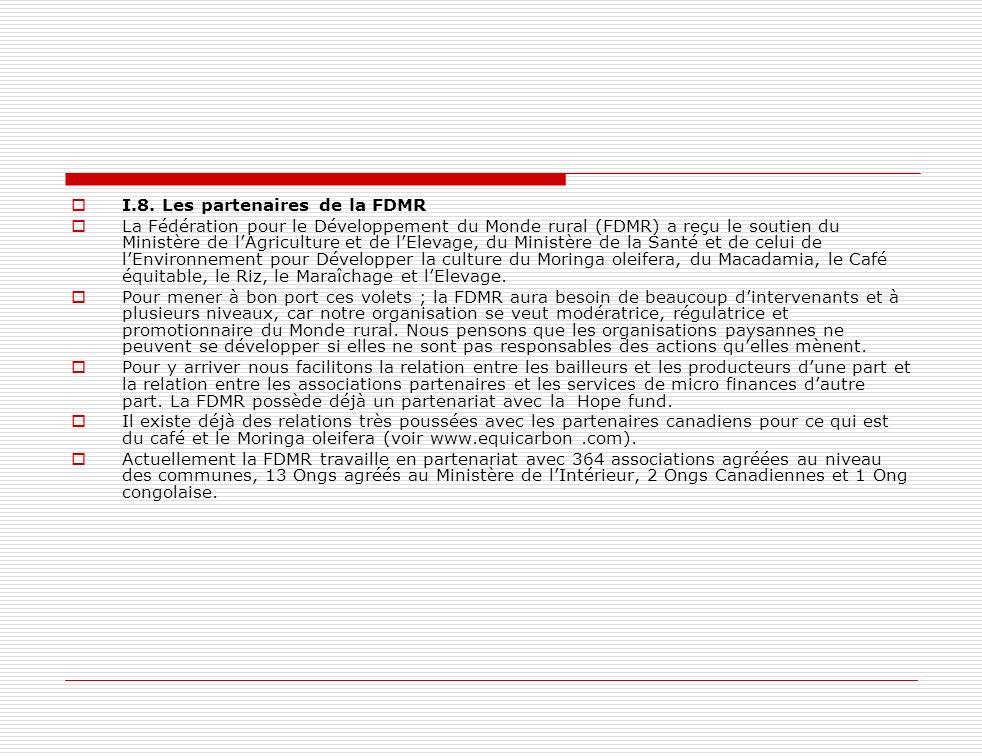 I.8. Les partenaires de la FDMR