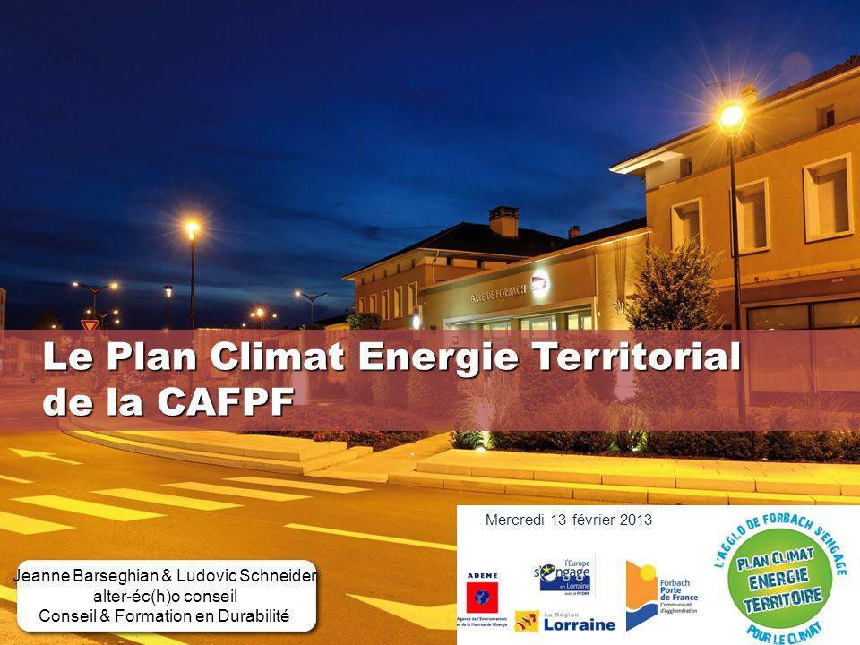 Le Plan Climat Energie Territorial de la CAFPF