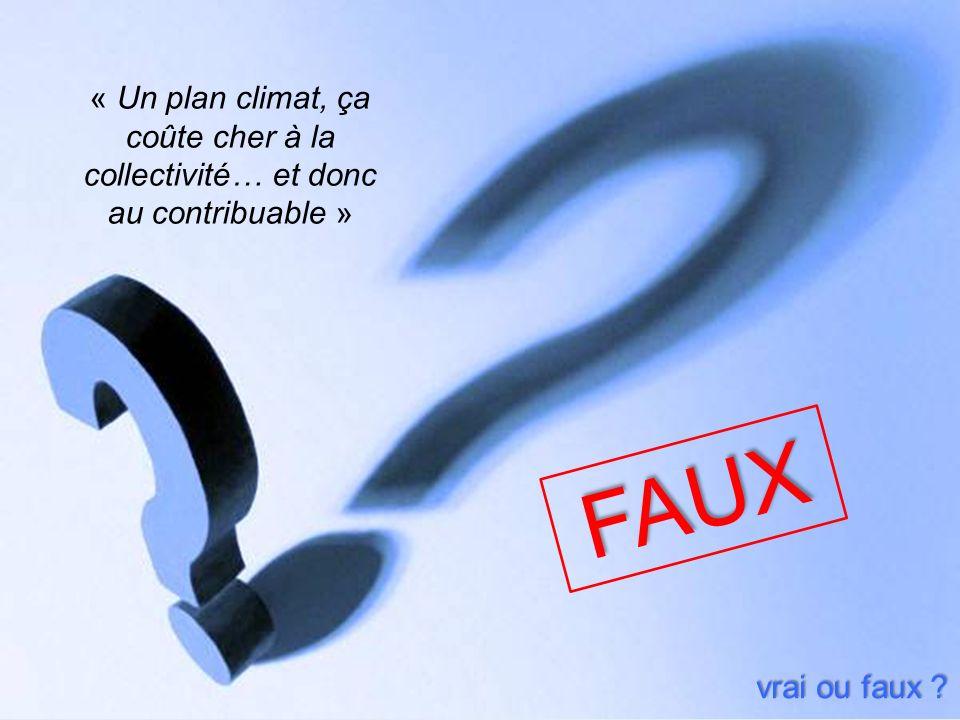 « Un plan climat, ça coûte cher à la collectivité… et donc au contribuable »