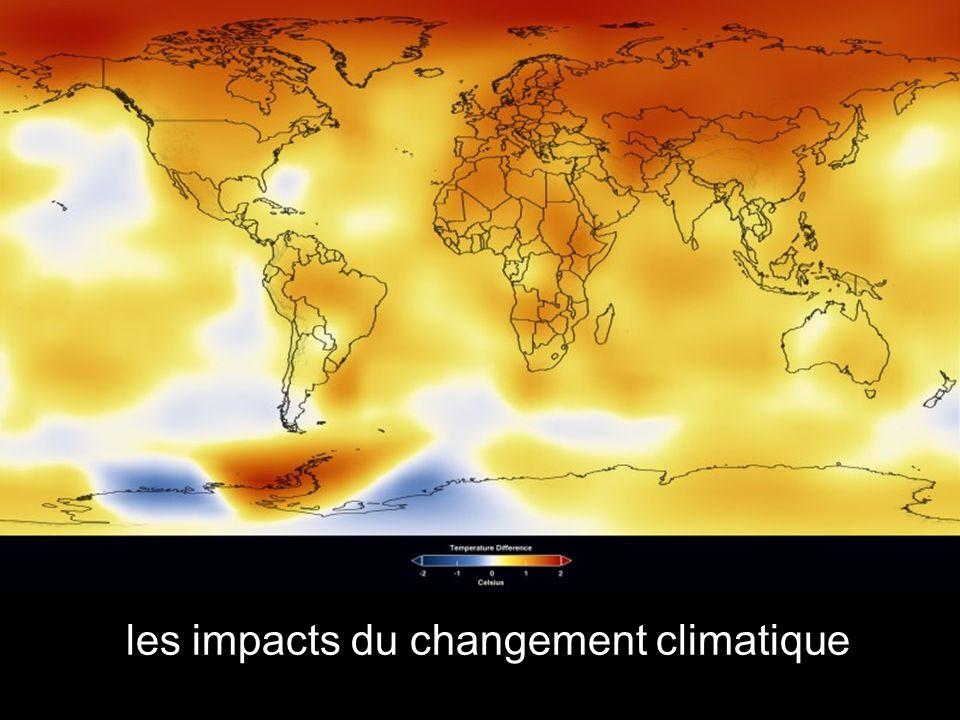 les impacts du changement climatique