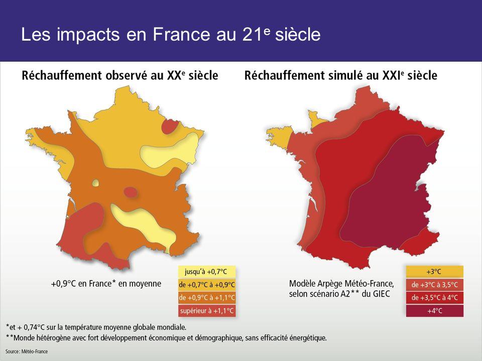 Les impacts en France au 21e siècle
