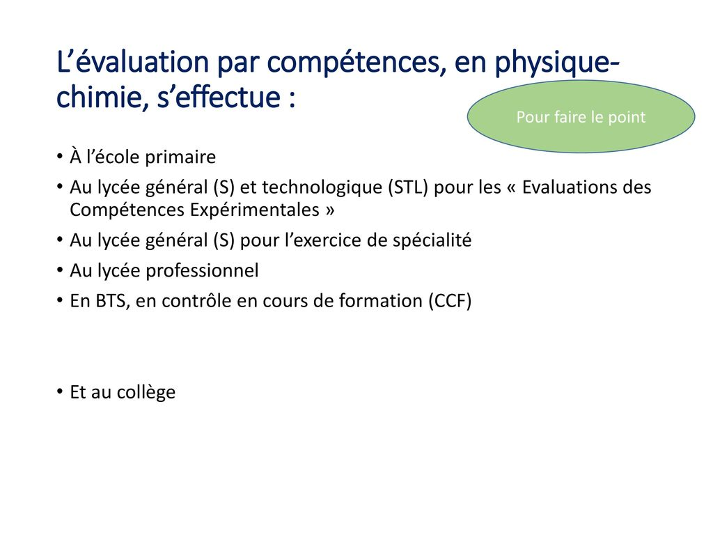 r u00e9forme du coll u00e8ge   l u2019 u00e9valuation en physique chimie au cycle 4