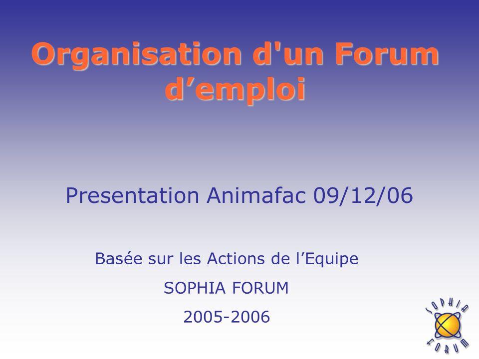 Organisation d un Forum d'emploi