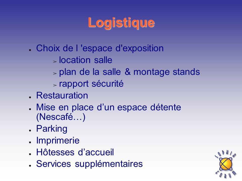 Logistique Choix de l espace d exposition location salle