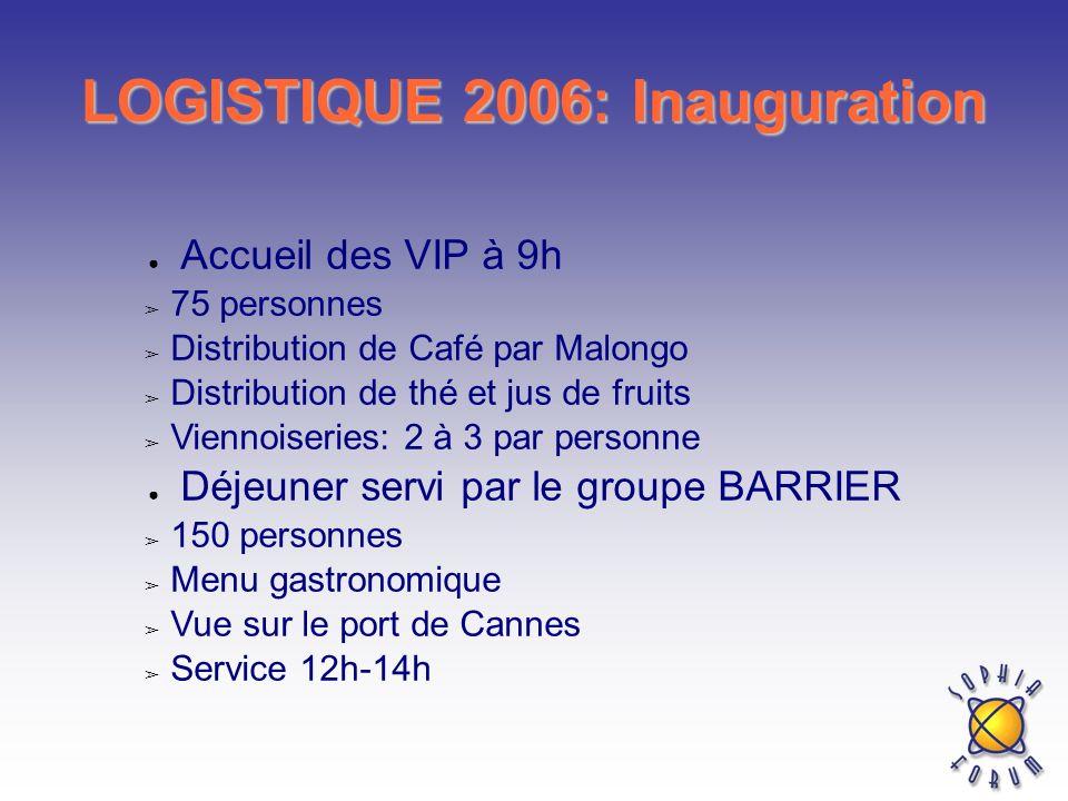 LOGISTIQUE 2006: Inauguration