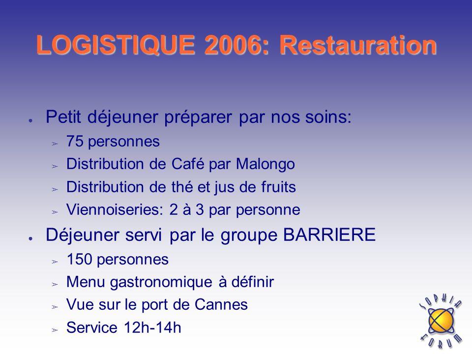 LOGISTIQUE 2006: Restauration