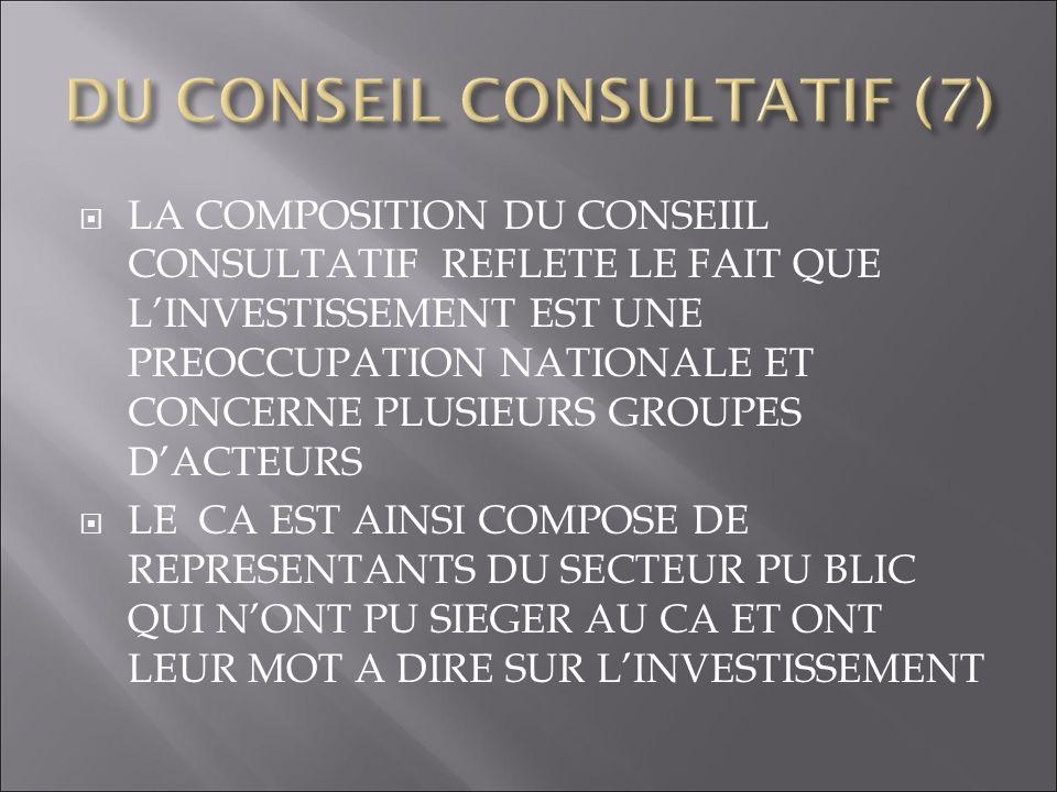 DU CONSEIL CONSULTATIF (7)