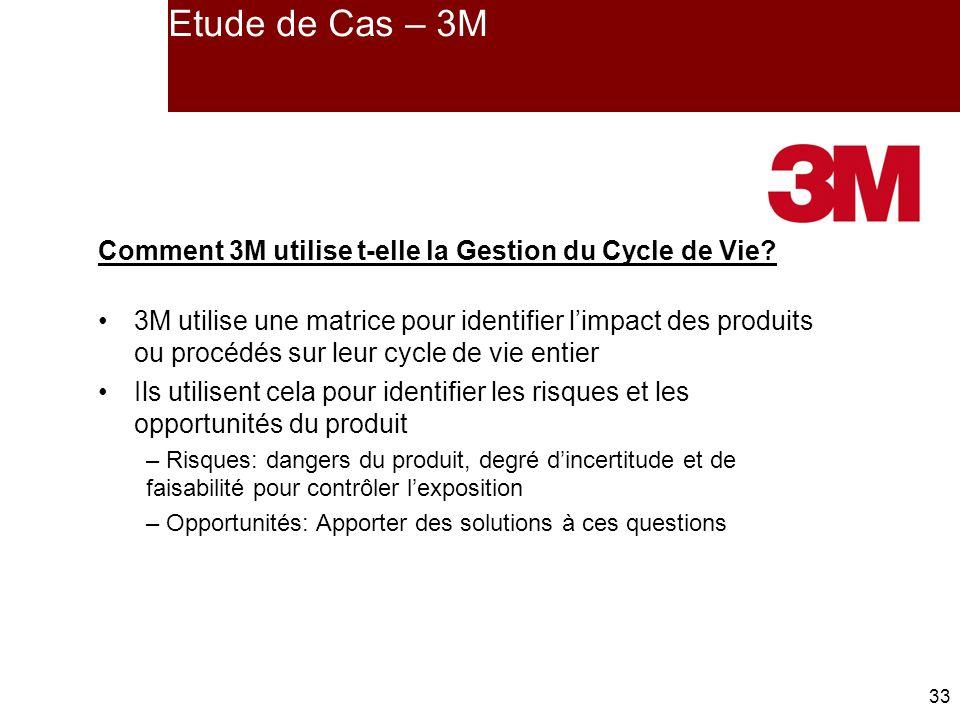 Etude de Cas – 3M Comment 3M utilise t-elle la Gestion du Cycle de Vie