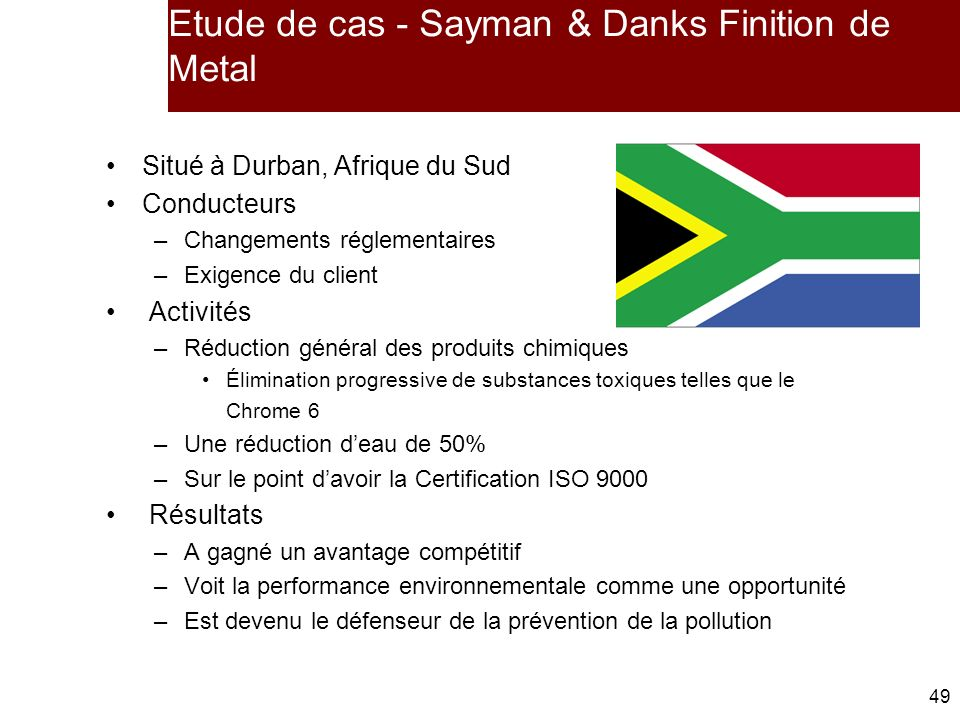 Etude de cas - Sayman & Danks Finition de Metal