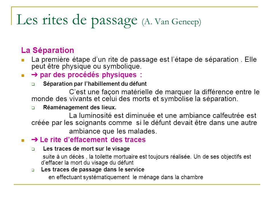 Les rites de passage (A. Van Geneep)