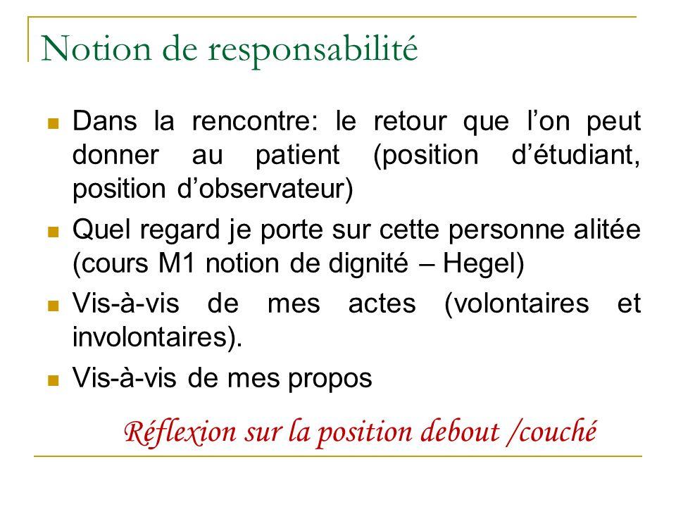 Notion de responsabilité