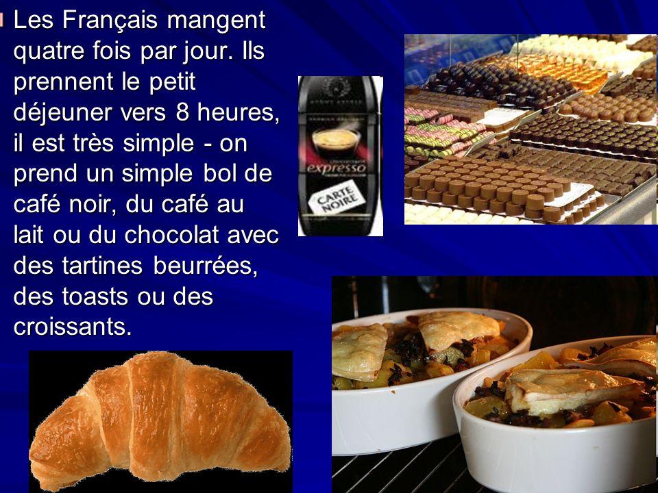 Les Français mangent quatre fois par jour