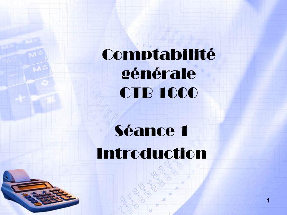 Comptabilité générale CTB 1000