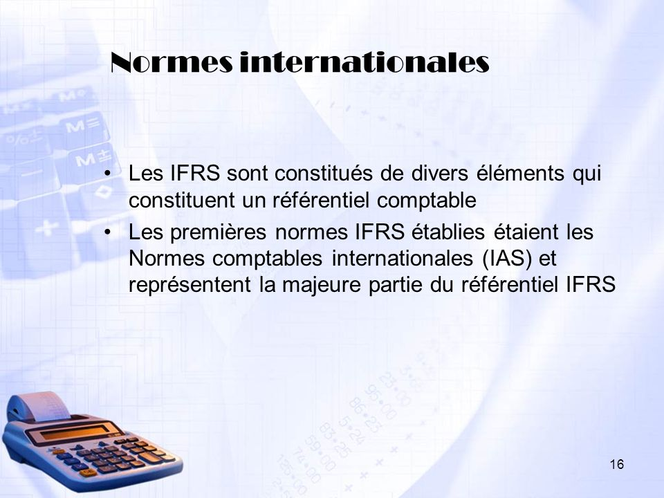 Normes internationales