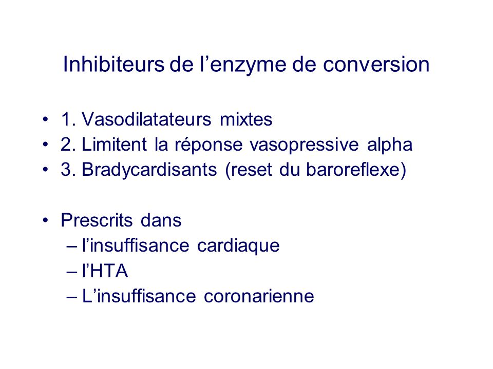 Inhibiteurs de l'enzyme de conversion