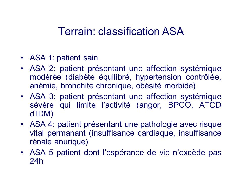 Terrain: classification ASA