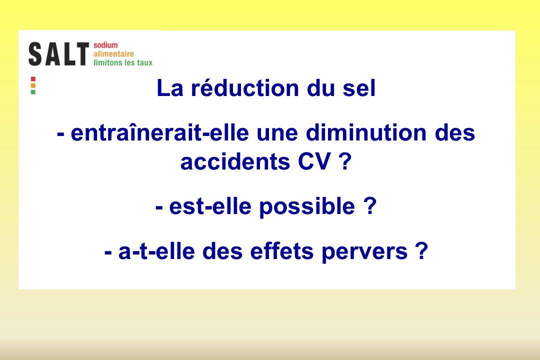 La réduction du sel - entraînerait-elle une diminution des accidents CV .