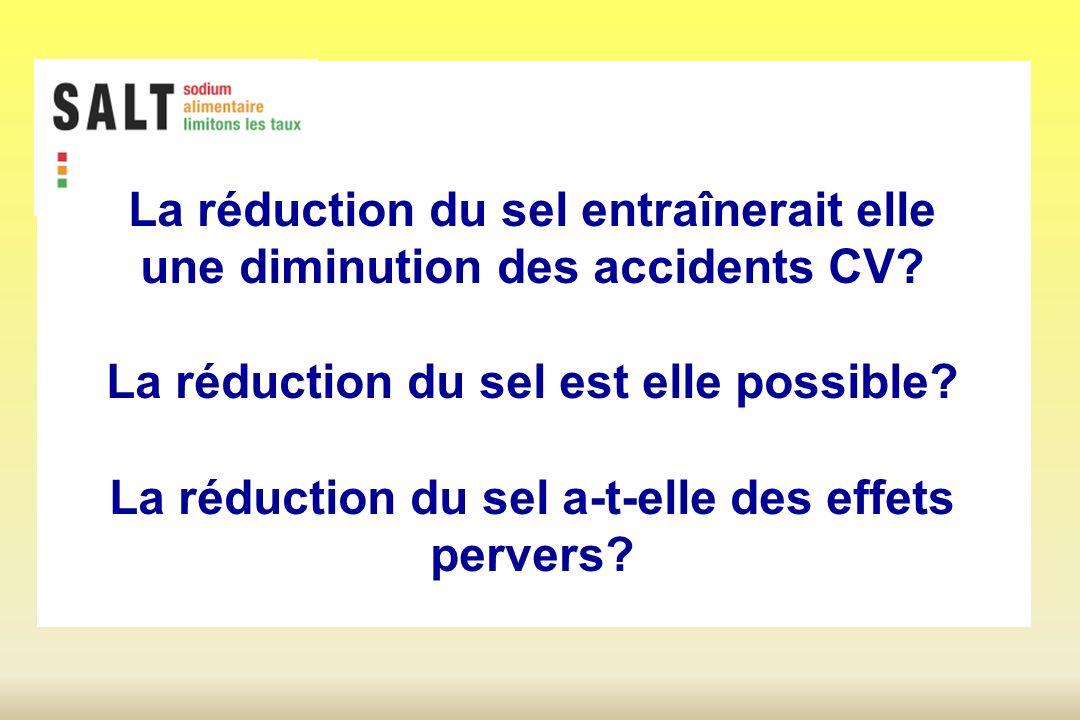 La réduction du sel entraînerait elle une diminution des accidents CV